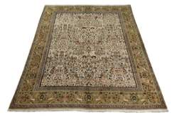 Hand knotted wool Persian Tabriz hunt carpet 12 x 9