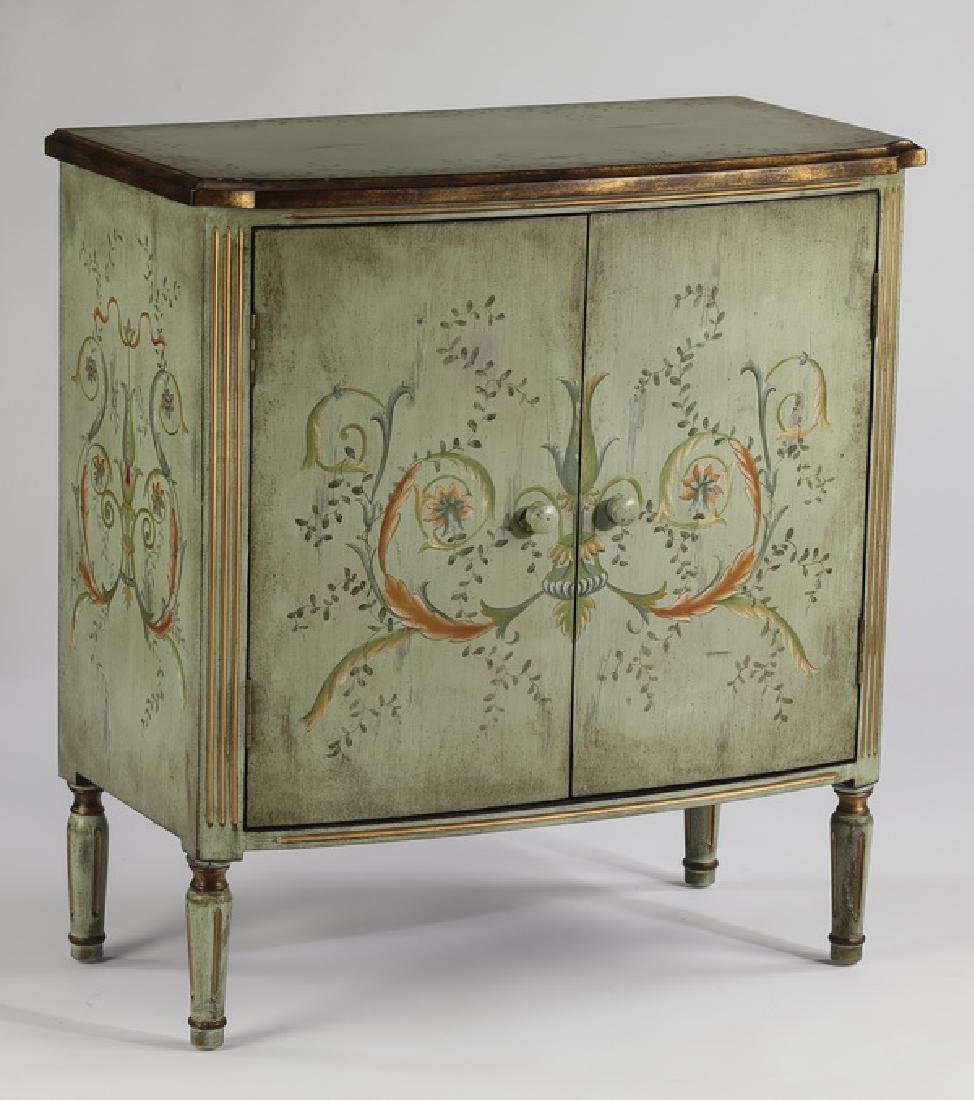 """Paint-decorated two door chest, 32""""h"""