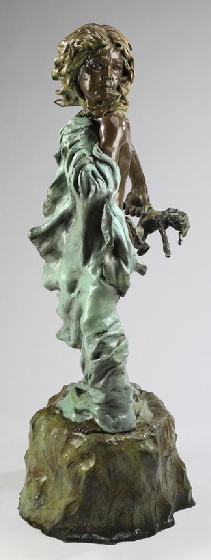 "J.Soderberg bronze sculpture 'Birth of Perlock' 55""h"