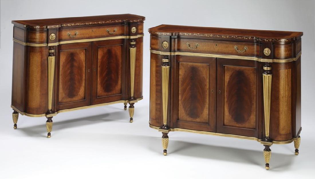 (2) E.J. Victor satinwood & mahogany cabinets