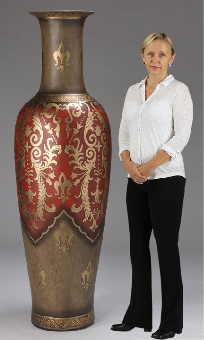 "Monumental decorative floor vase, 72""h"
