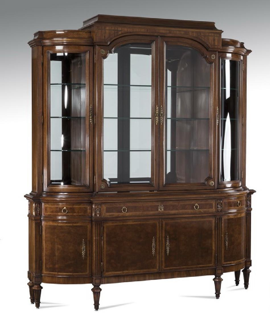 """Karges Louis XVI style mahogany breakfront, 88""""h"""