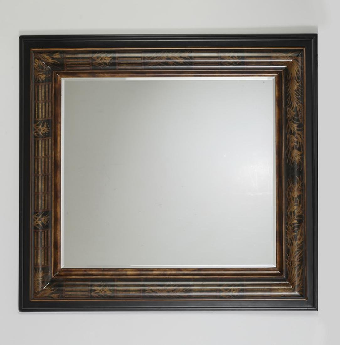 """Paint decorated Empire style mirror, 36""""h"""