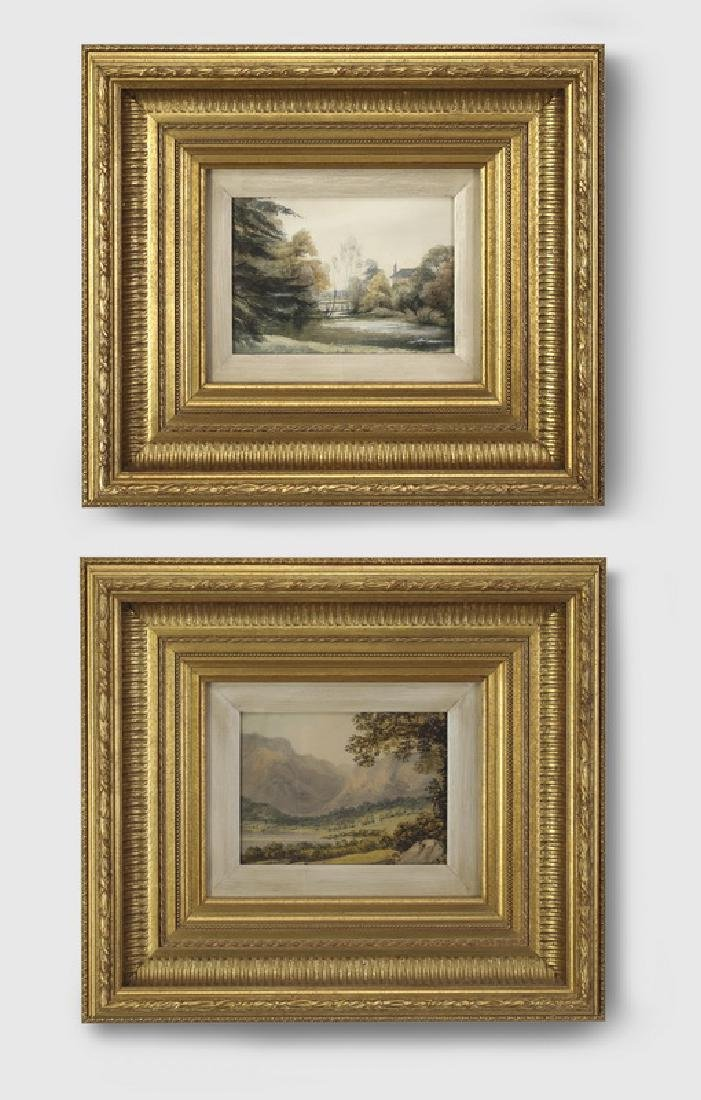 (2) 19th c. English School watercolors of landscapes