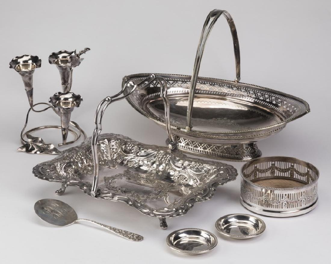 (7) Pcs sterling & silverplate table articles