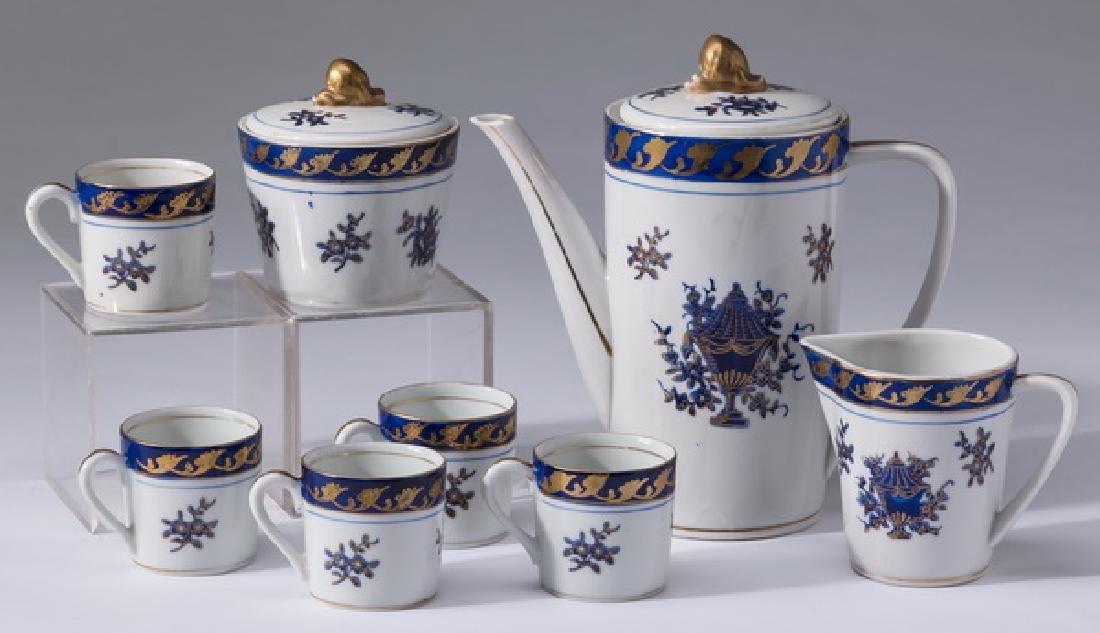 8-Piece porcelain espresso service