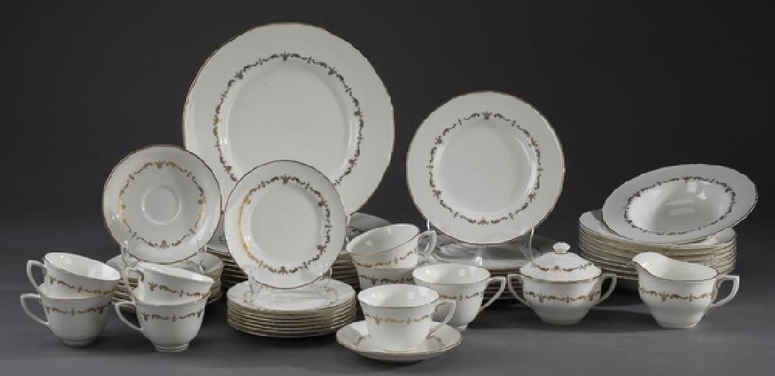 50-Pc Royal Worchester porcelain dinner service for 8