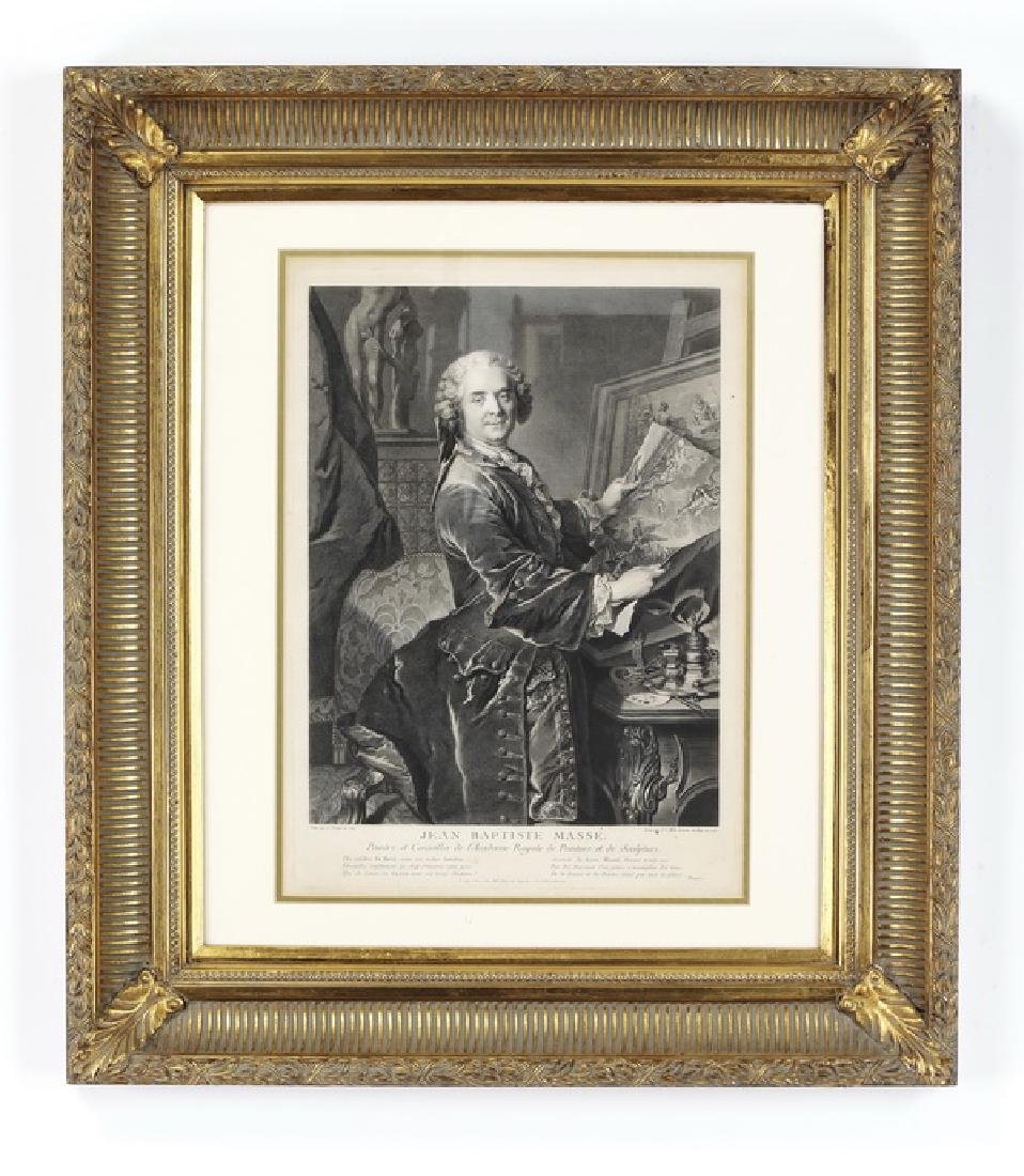 19th c. French engraving of Jean Baptiste Masse
