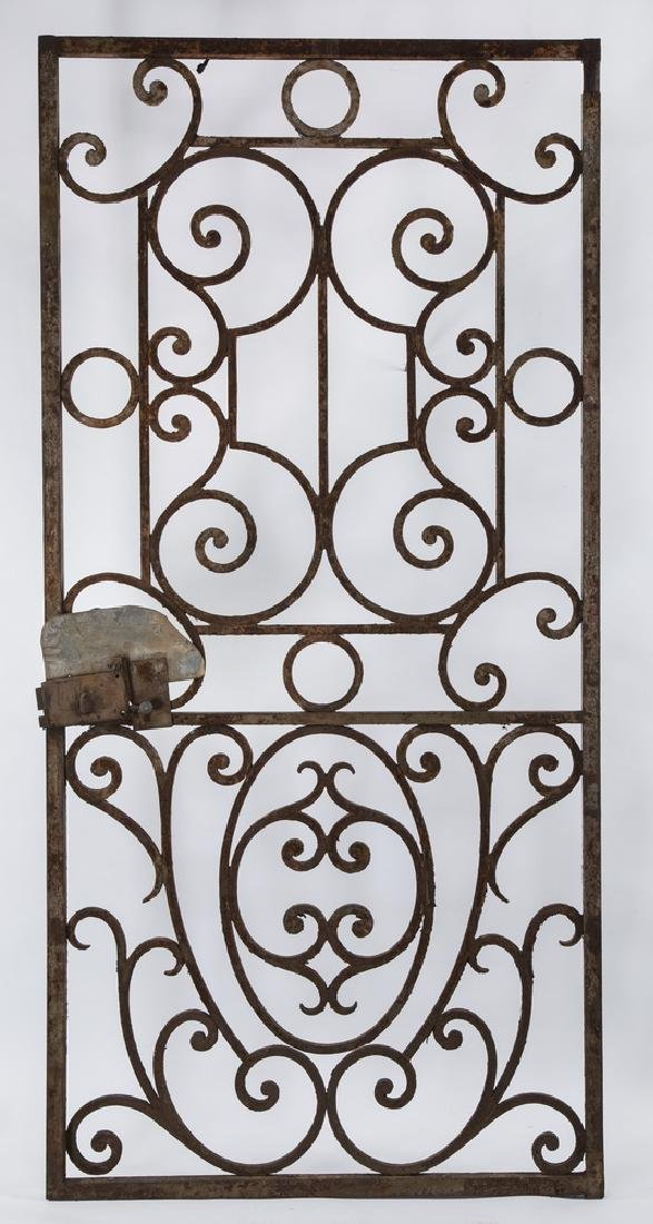 19th c. wrought iron door or garden gate
