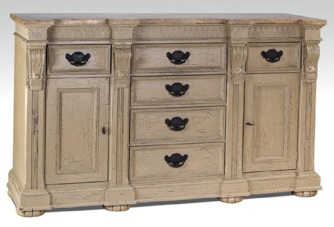 French Provincial marble top buffet, by Hickory White