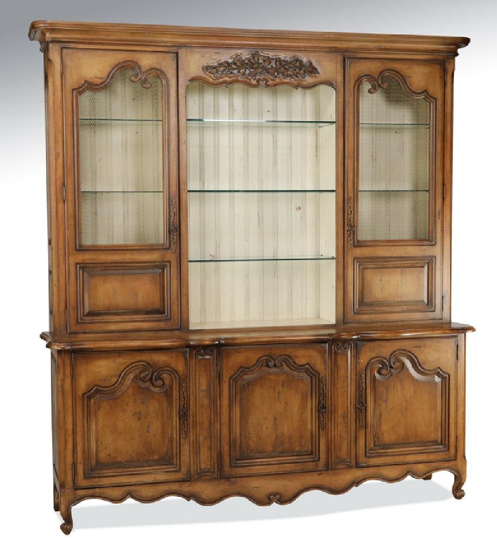 """Monumental French Provincial style buffet, 104""""h"""