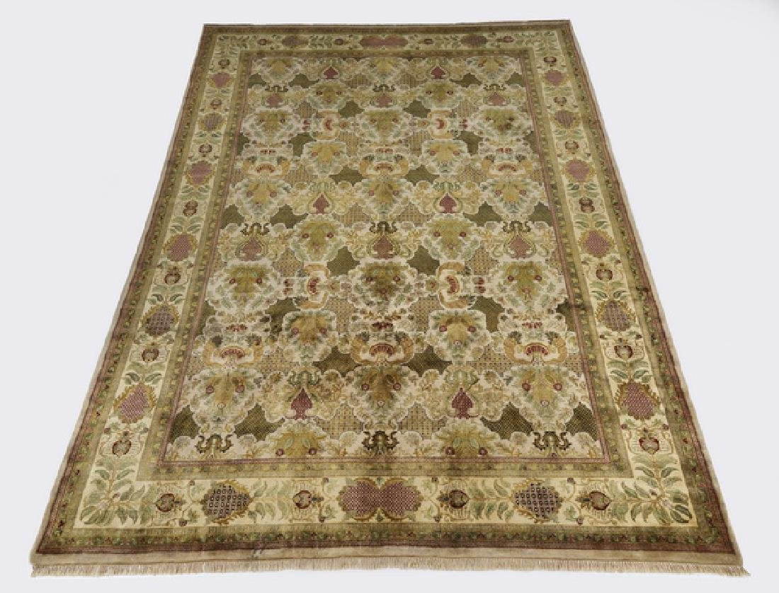 Contemporary hand knotted wool rug, 14 x 10
