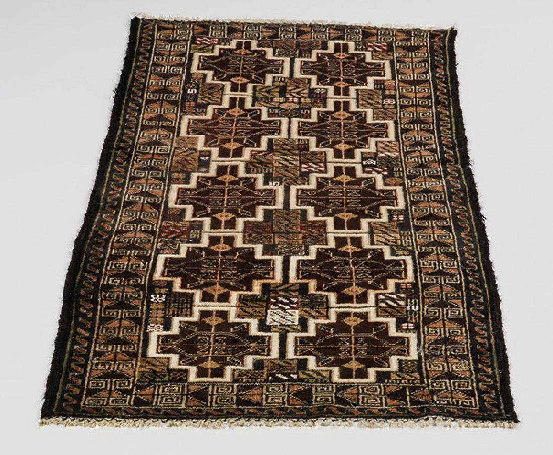 Hand knotted Turkmen wool rug, 3 x 5