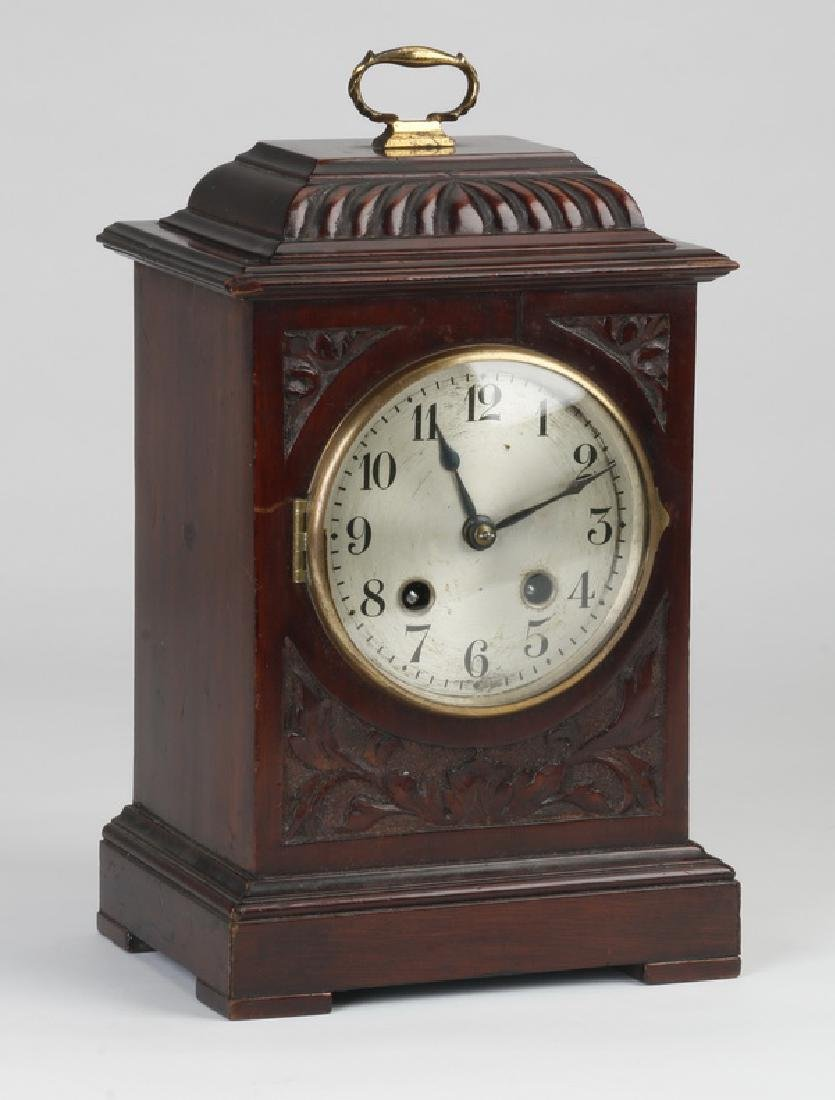 English mahogany bracket clock, early 20th c.