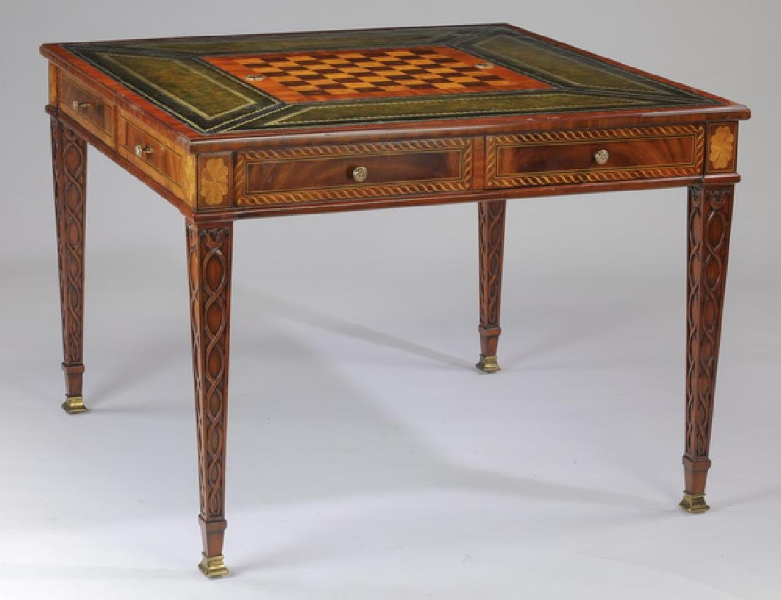 Maitland Smith marquetry inlaid game table