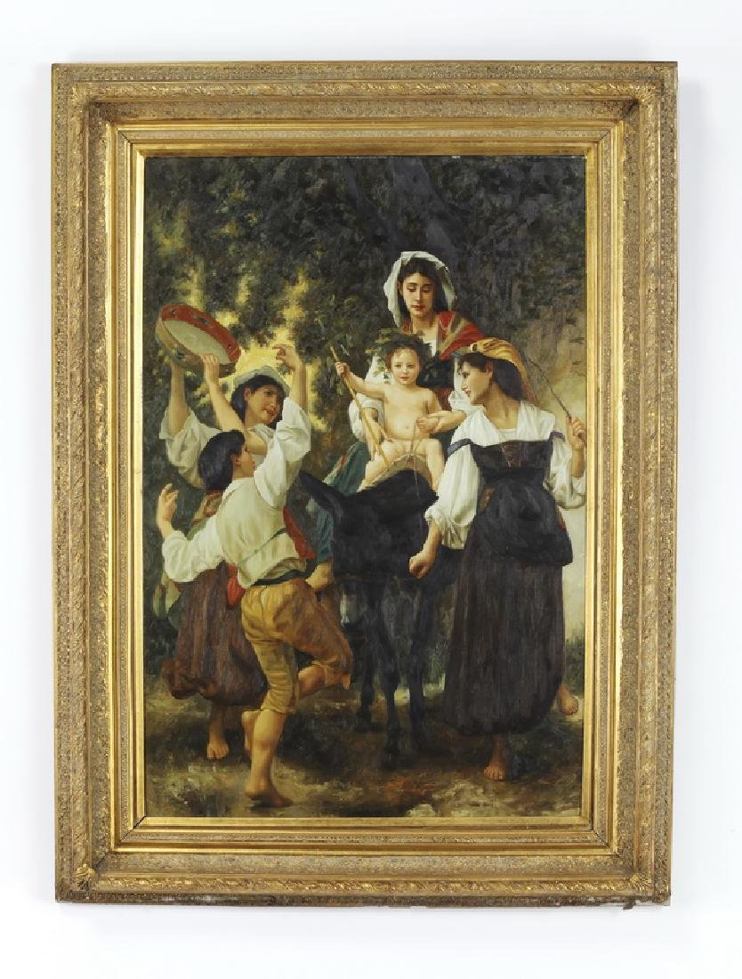 After W. Bouguereau, O/c 'Return from the Harvest'