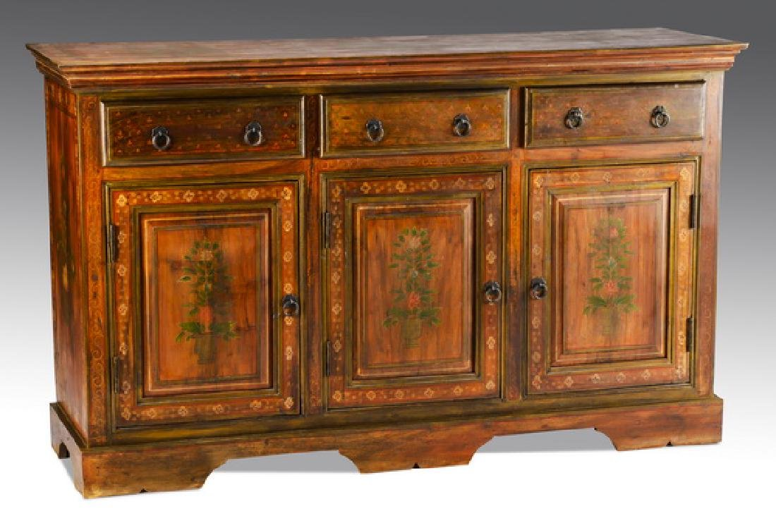 """Contemporary paint-decorated buffet, 60""""w"""