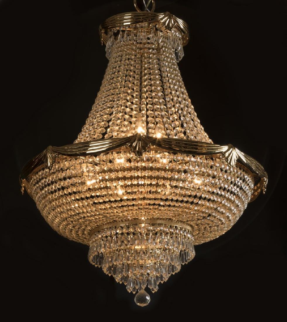 """Empire style crystal 11-light chandelier, 50""""h"""
