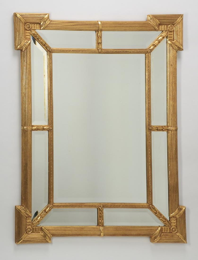 "Hollywood Regency style gilded mirror, 45""h x 34""w"