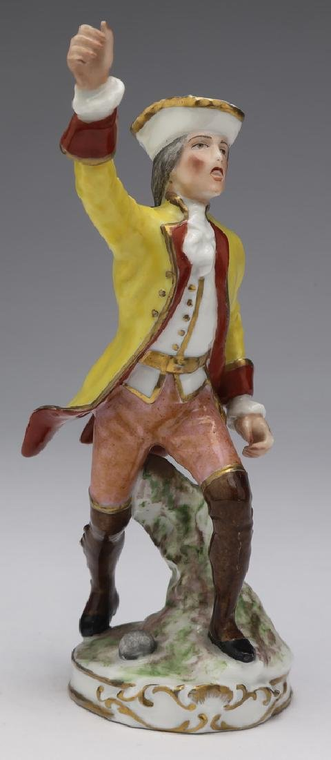 Early 20th c  French porcelain figure of a town crier