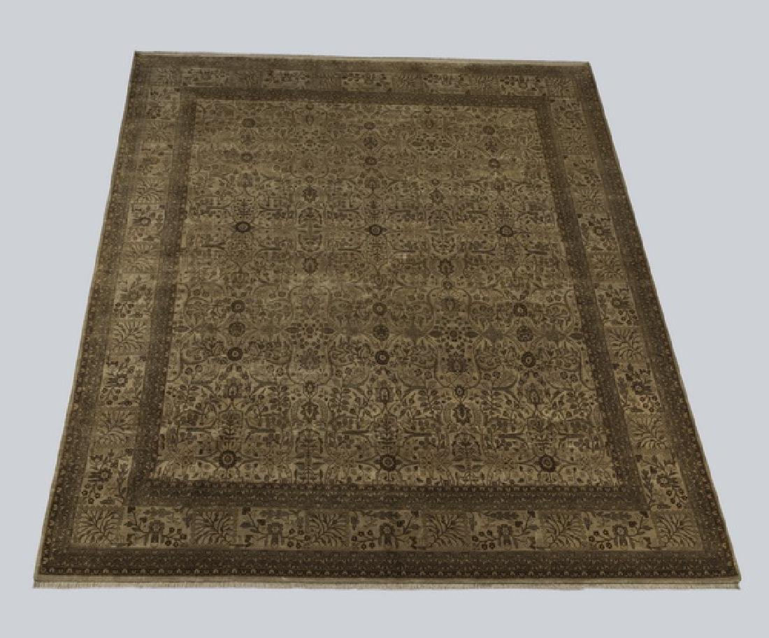 Indo-Tabriz hand knotted wool carpet, 12 x 17