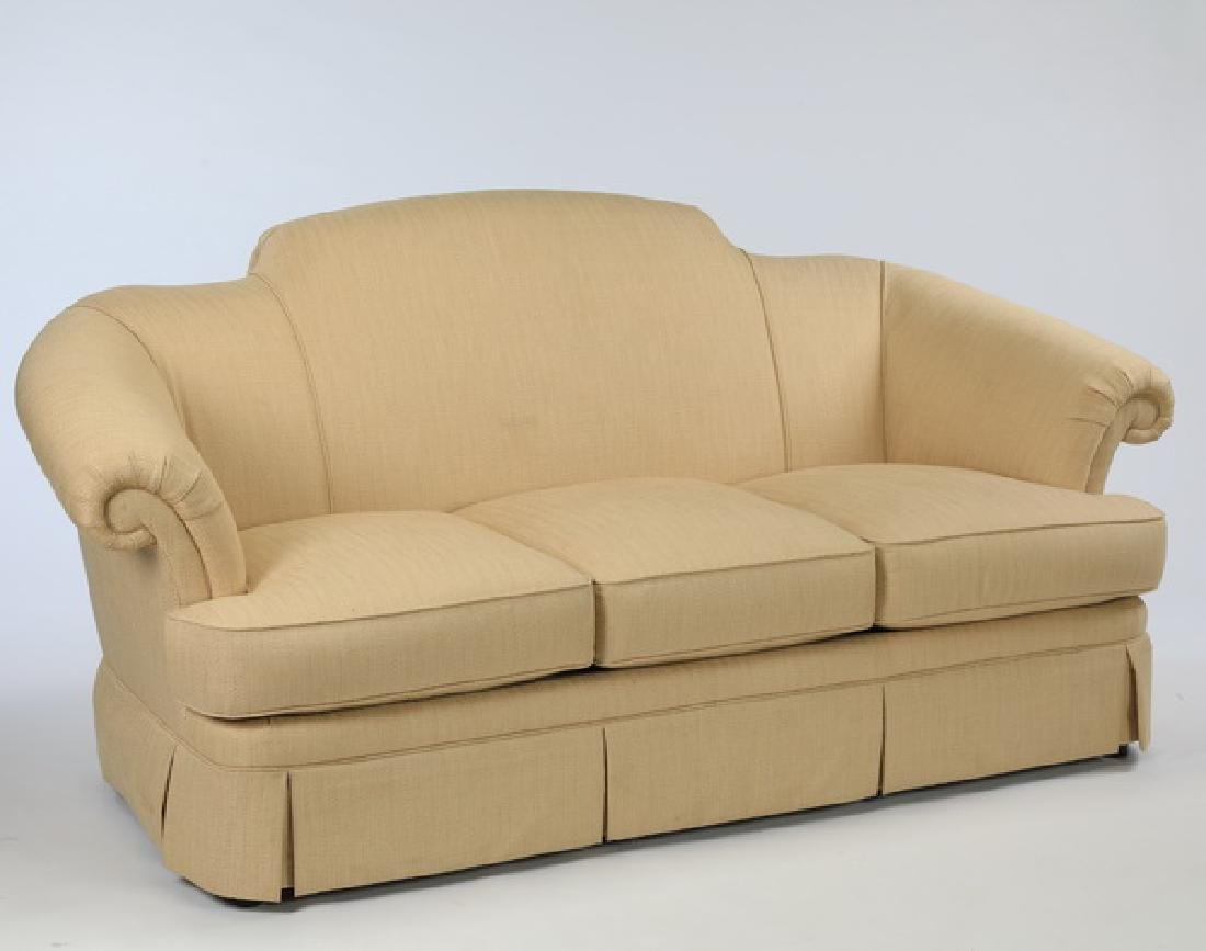 Oversized light beige upholstered sofa by Thomasville