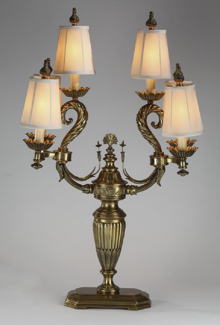 Neoclassical style six-light candelabra lamp