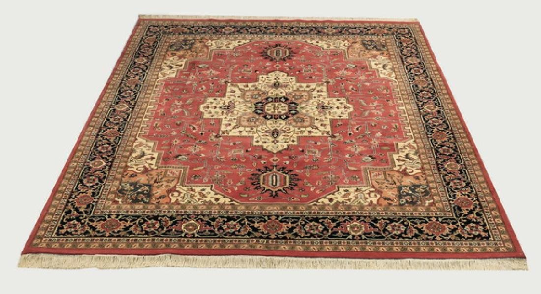Hand knotted Indo-Heriz wool carpet, 8 x 10