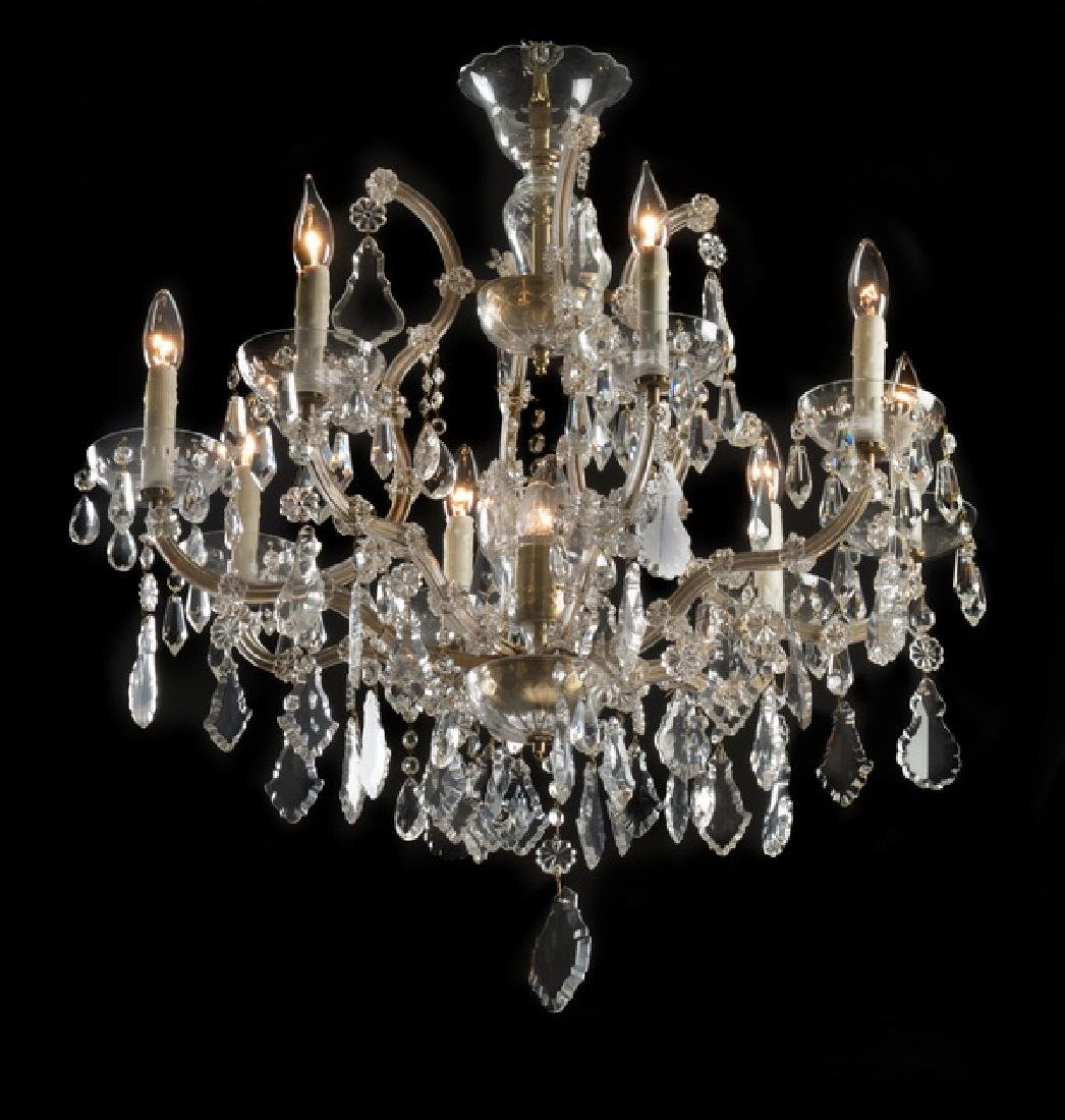 Continental Maria Theresa style 8-light chandelier