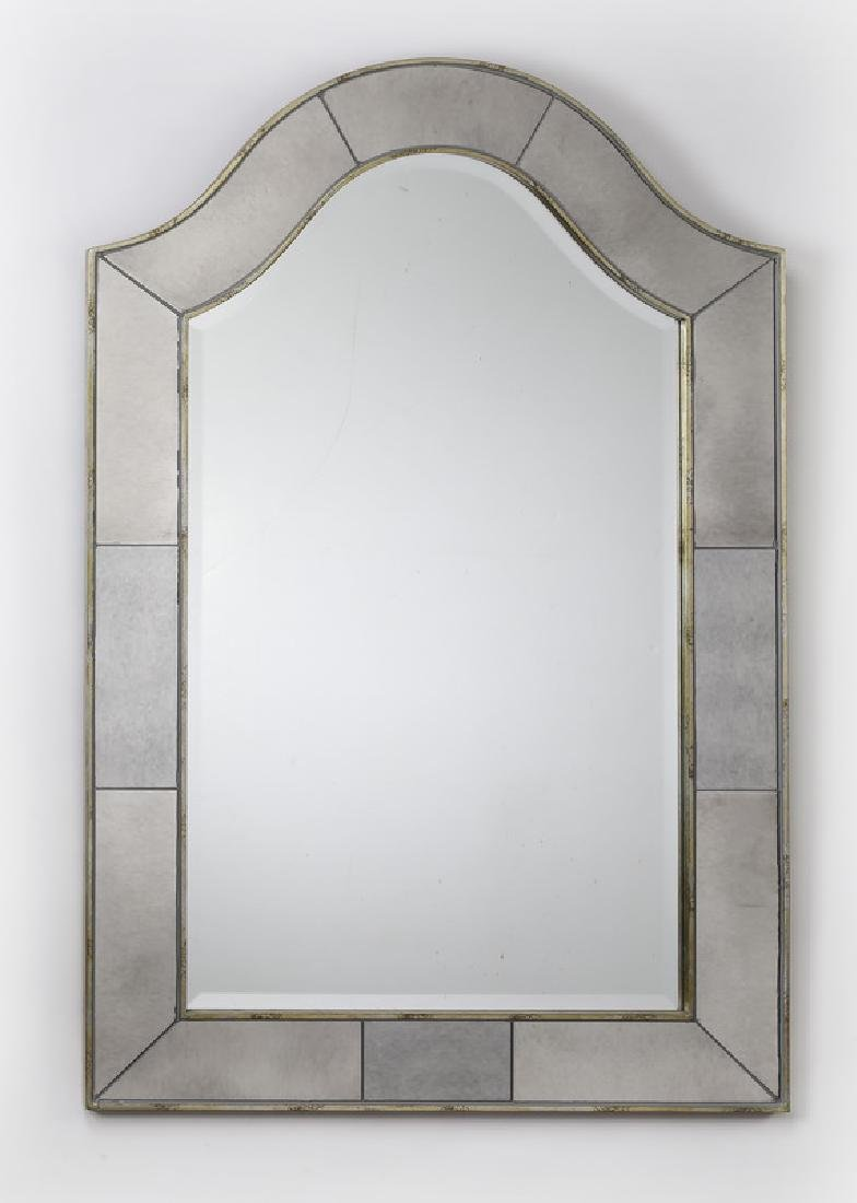 "Hollywood Regency style mirror, 44""h"