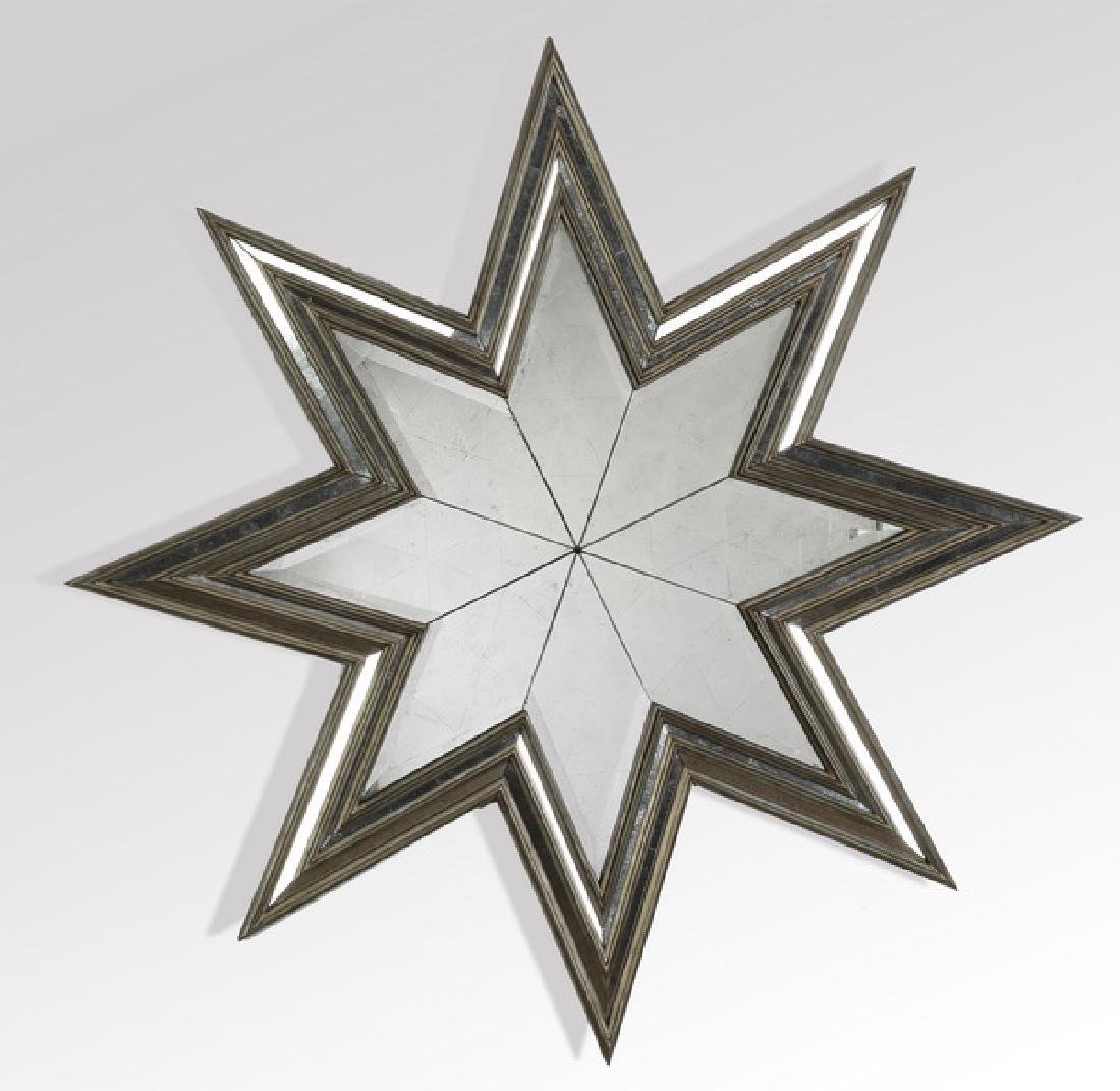 """Star shaped mirror with silver finish, 44""""w"""