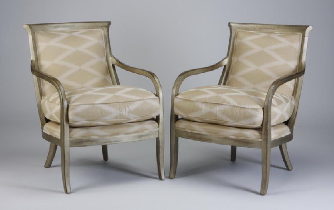 (2) Contemporary upholstered chairs
