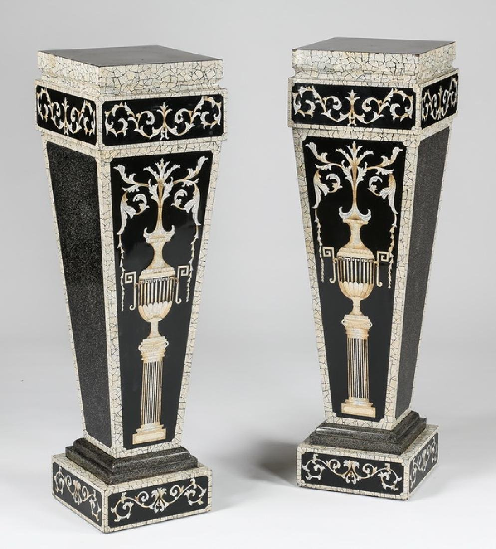 """(2) Neoclassical inspired pedestals, 43""""h"""
