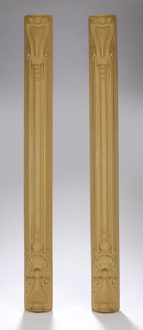 """(2) Unfinished wood architectural elements, 30""""h"""
