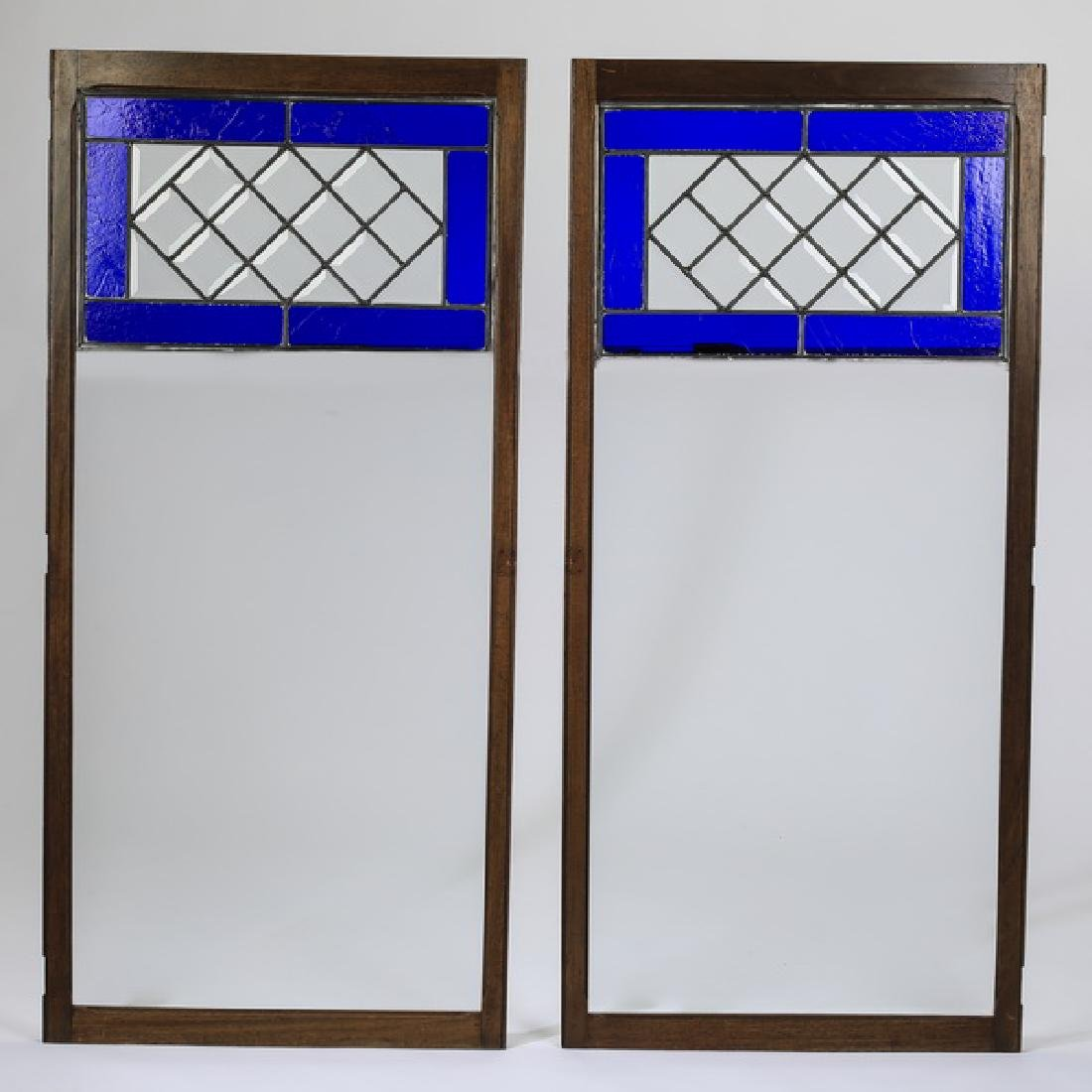 """(2) American stained glass windows, 51""""h"""