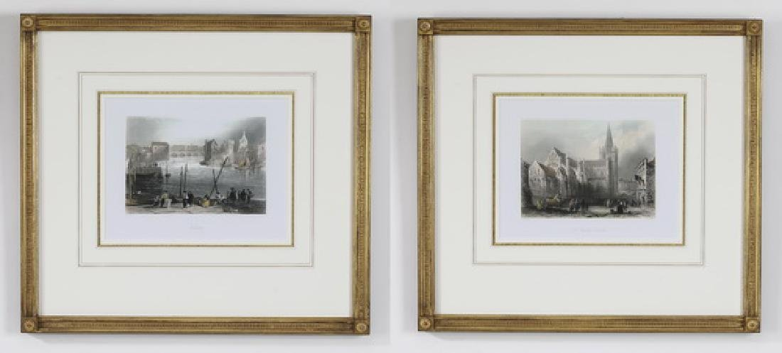 (2) 19th c. hand colored steel engravings of Ireland