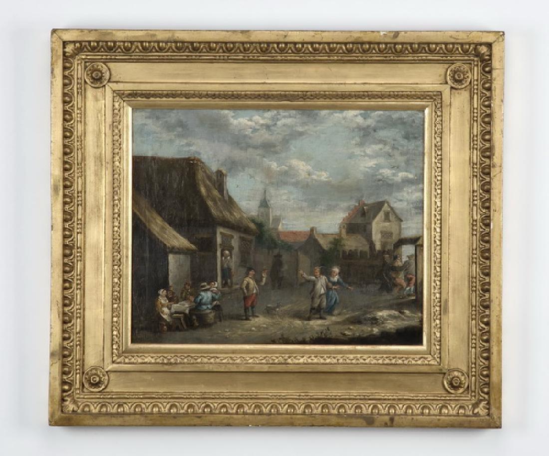 Manner of D. Teniers II, O/b tavern scene, 18th c.