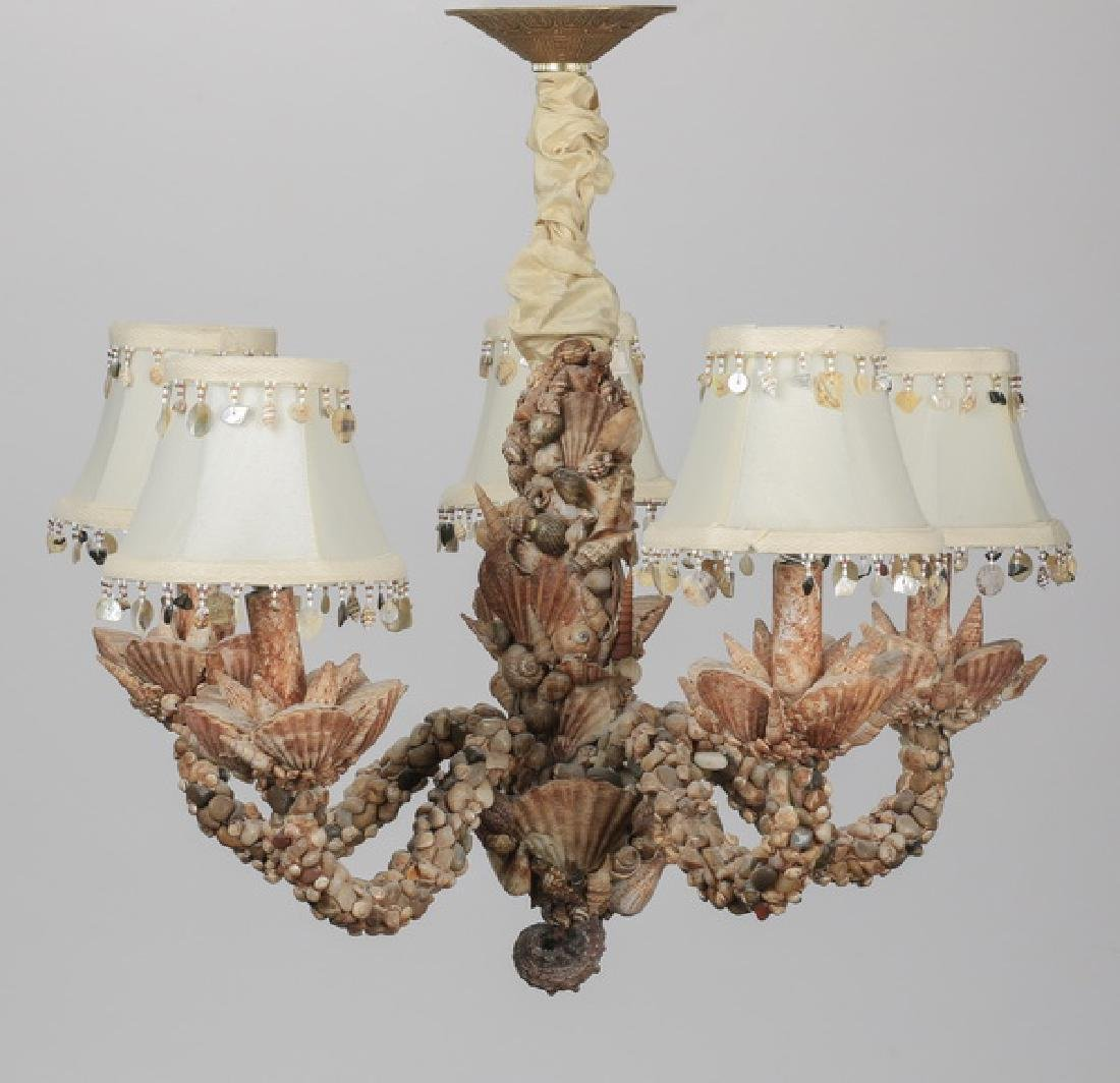 5-light 'seashell' chandelier, early 20th c.