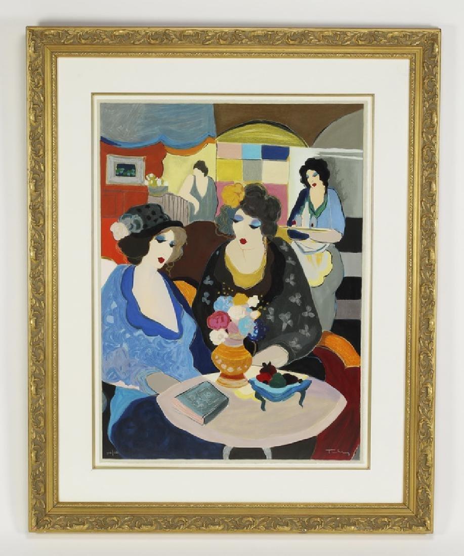 Itzchak Tarkay signed lithograph titled 'Café Select'