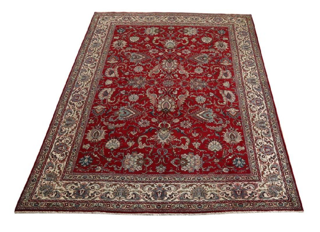 Hand knotted wool Persian Tabriz, 14 x 11