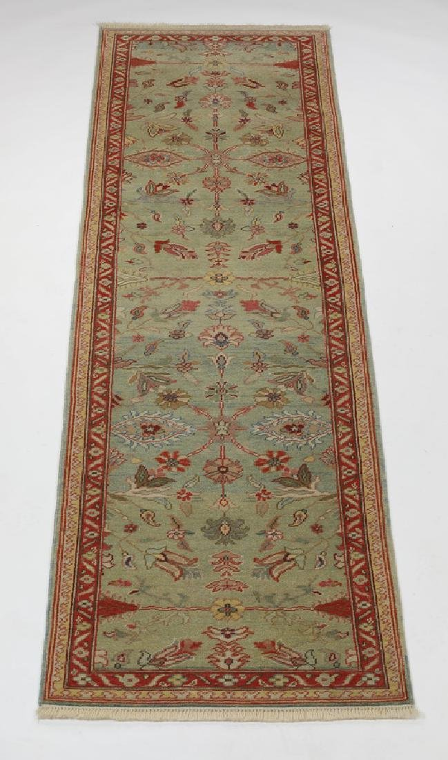Turkish hand knotted wool runner