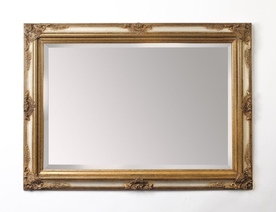 Continental style gilded & distressed mirror