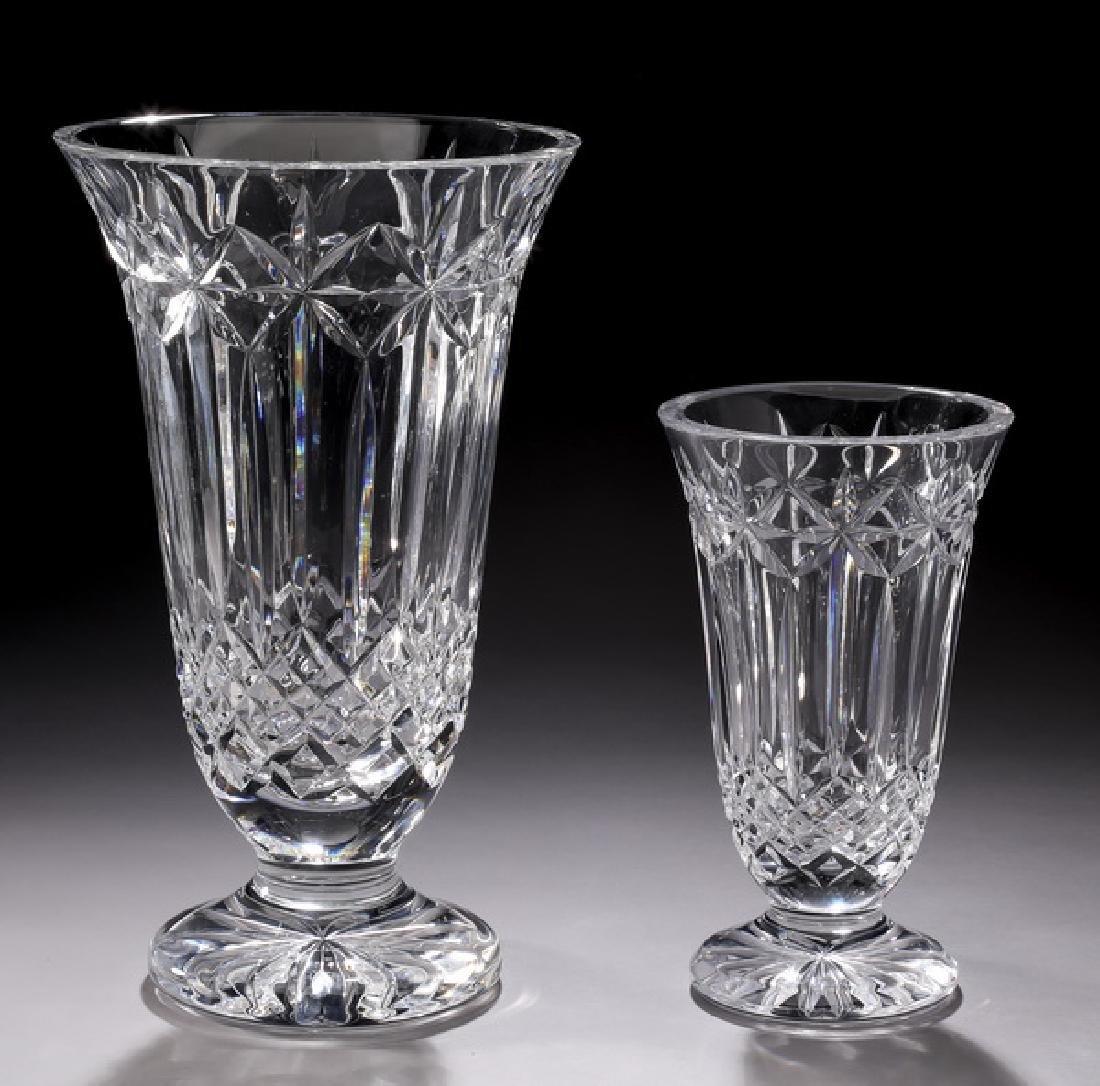 (2) Waterford crystal 'Balmoral' vases
