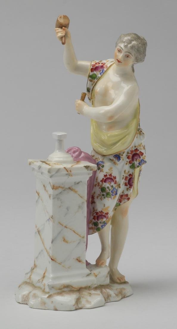 "19th c. Samson figurine of female sculptor, 9""h"
