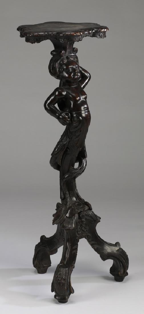 "Rococo Revival figural fern stand, 35.5""h"