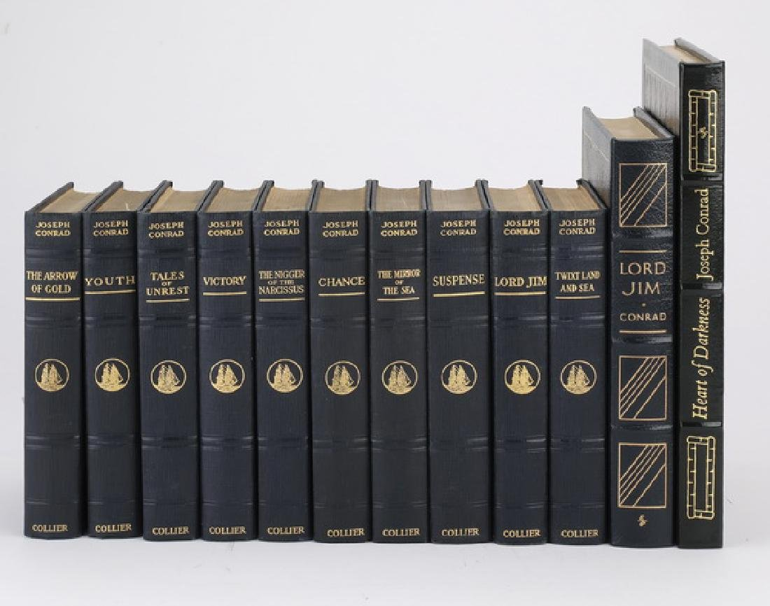 (12) Leatherbound books by Joseph Conrad
