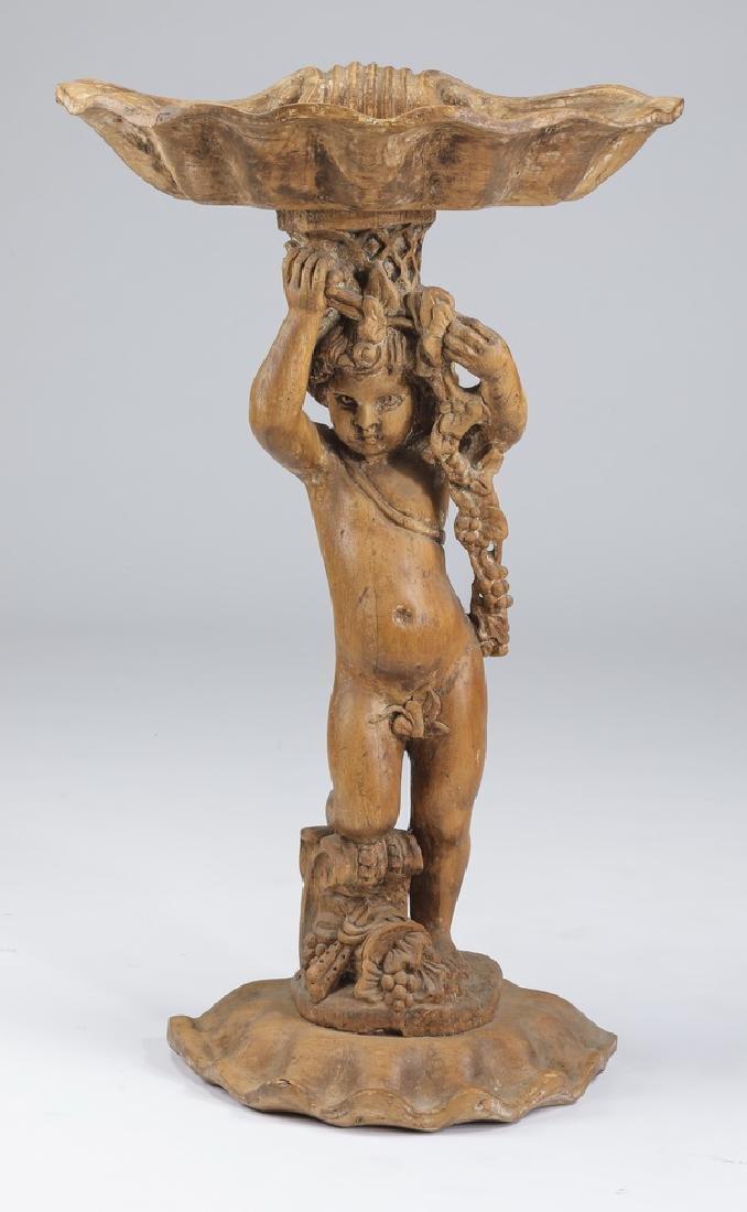 "Late 19th century figural Venetian planter, 40""h"