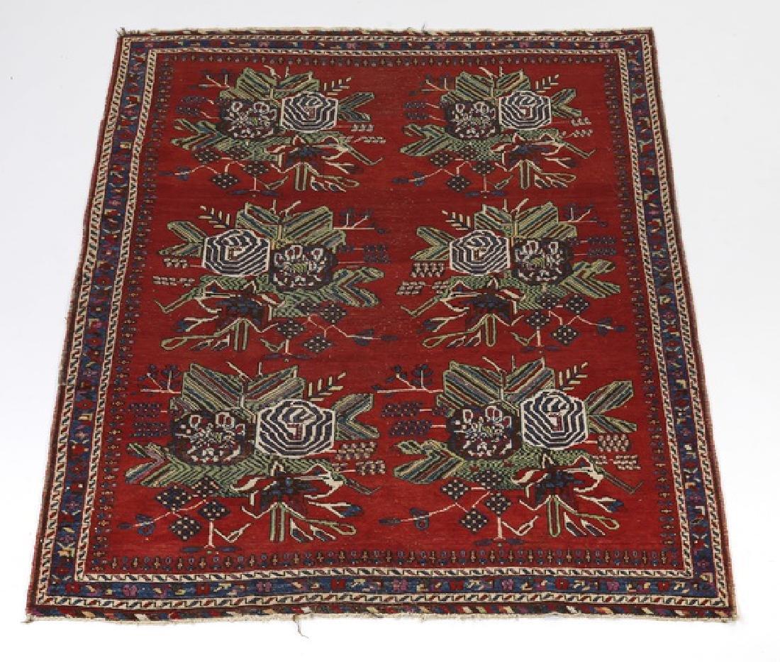 Caucasian Karabagh rug w/ natural dye, ca 1900