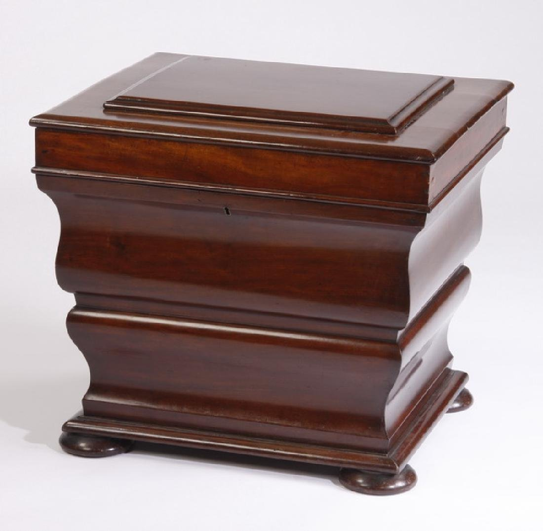 English mahogany cellaret, 19th c.
