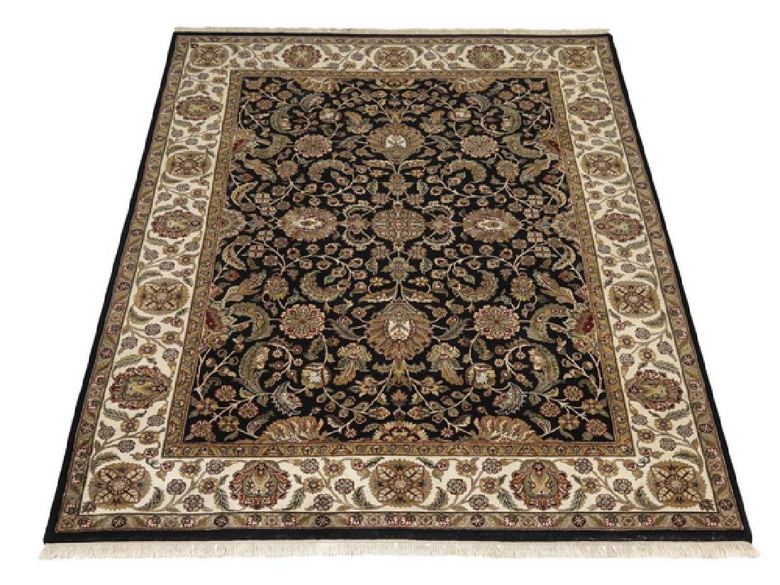 Hand knotted wool Indo-Kerman rug, 12 x 9